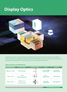Display Optics Catalog